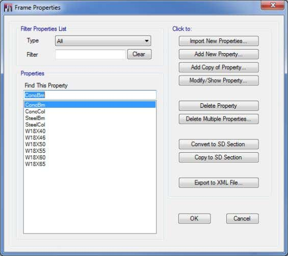 how to import frame prop- erties into the Properties list. Figure 5-8 Frame Properties form 5