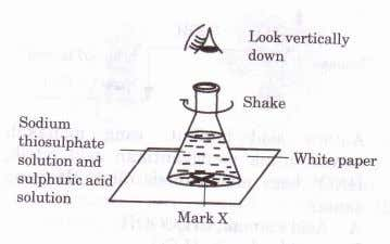 10 Which of the conditions take mark 'X' to following combination of the shortest time for