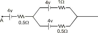 emf of the three batteries as shown in the figure. (1) 4 v (2) 8 v