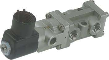 Locations - 3/2 (Three-Way) Valves Dimensions: Inch mm Solenoid-pilot operated/ Spring Return EXPilot type