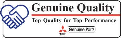 Genuine Quality Top Quality for Top Performance