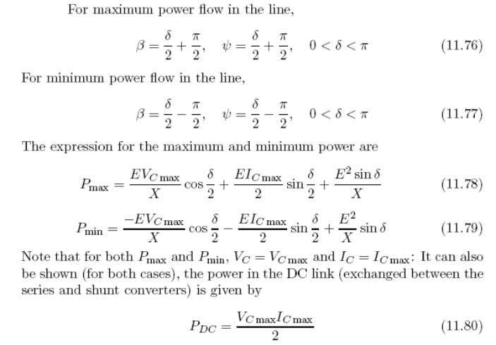 Expressions for Max and Min Power Flows in a Line with UPFC 48 K.R.Padiyar I.I.Sc.