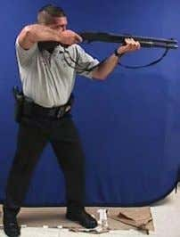 it is a disadvantage for a combat shooting stance as it severely limits the shooter's ability