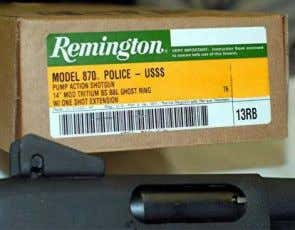 a wide variety of munitions in such a small package. One way Remington 870 U.S. Secret