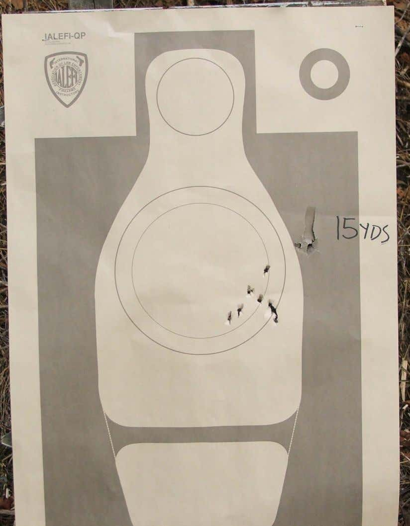 MPTC Firearms Instructor Program Shotgun Instructor Note: Shooter error on this target put the center of