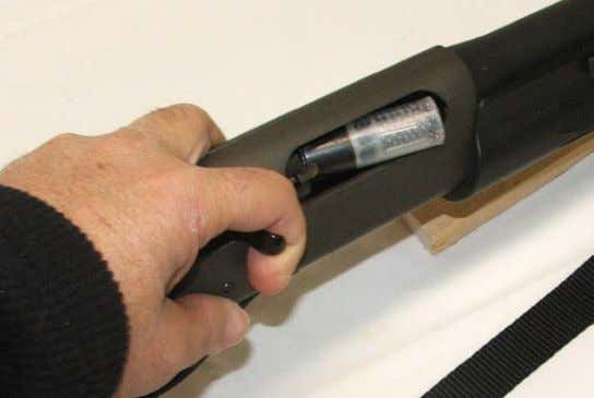 out into your hand. Replace both rounds into the magazine. UNLOADING 1. Insure the safety is