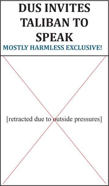 DUS INVITES TALIBAN TO sPEAK MOSTLY HARMLESS EXCLUSIVE! [retracted due to outside pressures]