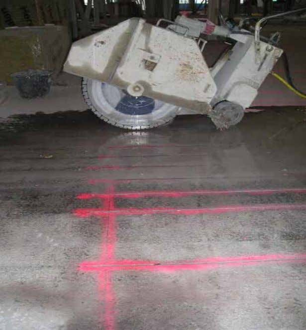 Near Surface Mounting Reinforcement (NSMR) Flexural strengthening of a concrete deck in the region of negative