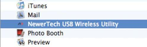 sign at the bottom. 5. Select the Wireless Utility in your Applications folder. 6. Close the