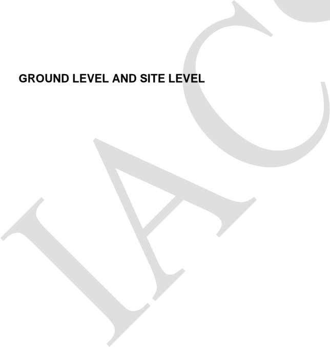 GROUND LEVEL AND SITE LEVEL