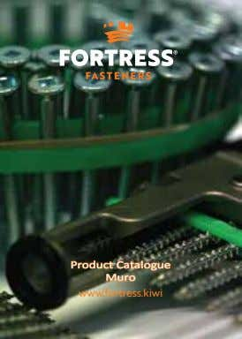 Product Catalogue Muro ww w.fortress.kiwi