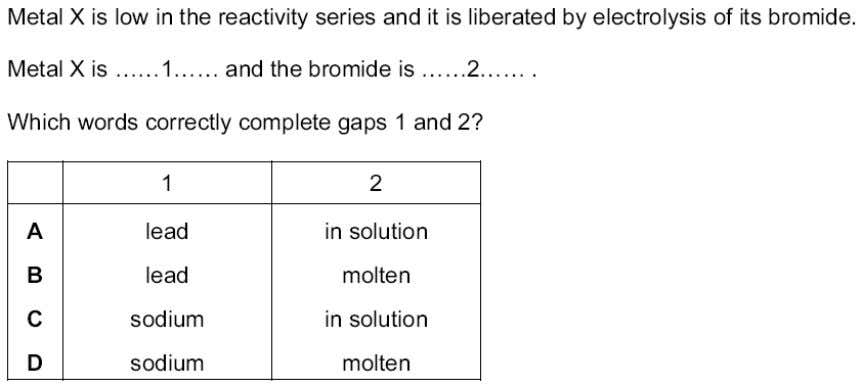 SCHOOL Topic 5 – Electricity and chemistry - MCQs 10. 11. 12. ? 13. ? Teacher