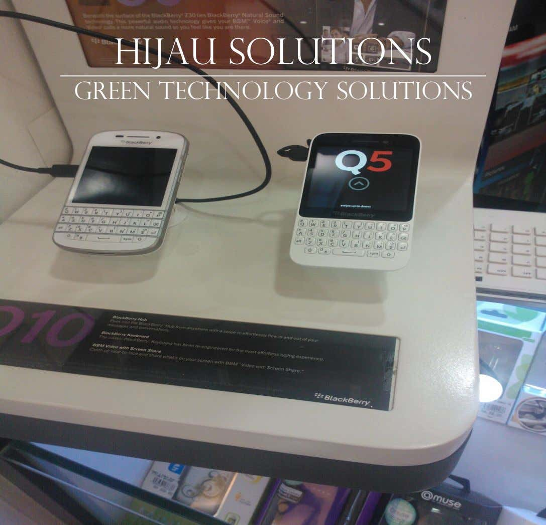 Hijau solutions Green Technology solutions