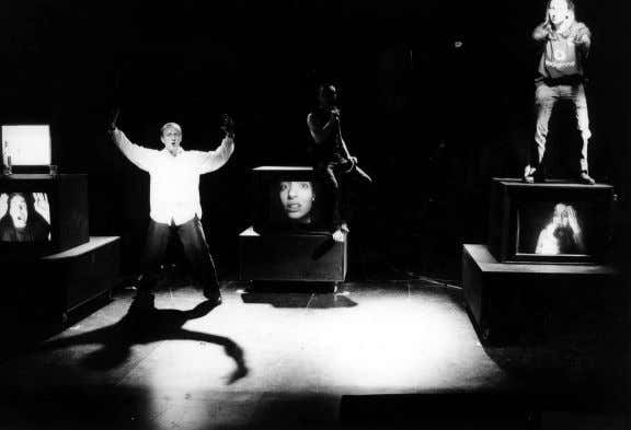 The THEC-Labo production of Kane's Blasted . Photo: Jean Decock I prefer Trainspotting by far.
