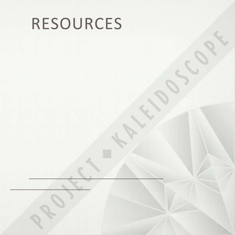 RESOURCES'