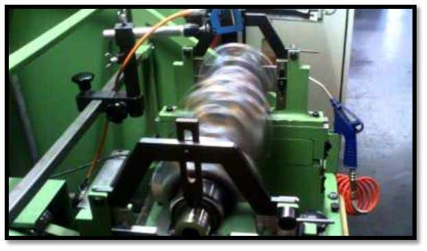 the crankshaft is made to rotate and same procedure is followed until the crankshaft is balanced