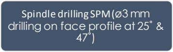 radiator & flywheel face & nozzle hole on sump face) Spindle drilling SPM ( ø3 mm