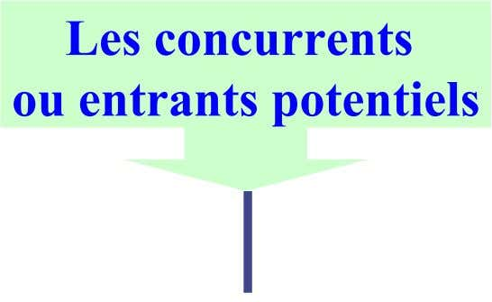 Les concurrents ou entrants potentiels