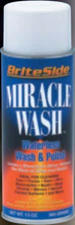 BriteSide ™ Miracle Wash Aerosol Spray (AMW) A unique dry car wash and polish delivers