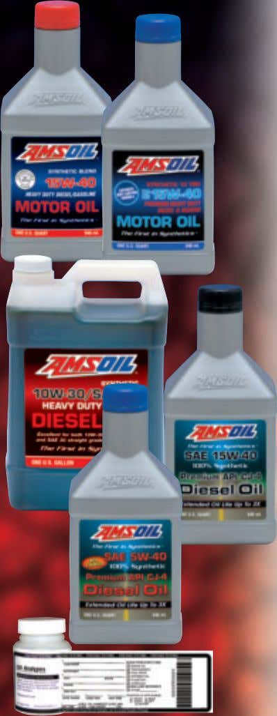 4 Oil Suction Pump (G1206) Synthetic and Synthetic Blend 15W-40 Heavy Duty Diesel Oils Engineered