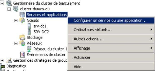 clic droit sur Services et applications puis Configurer un service ou une application Copyright © Idum
