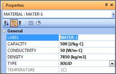and in Properties window, change the LABEL as shown. Note that you can also import materials