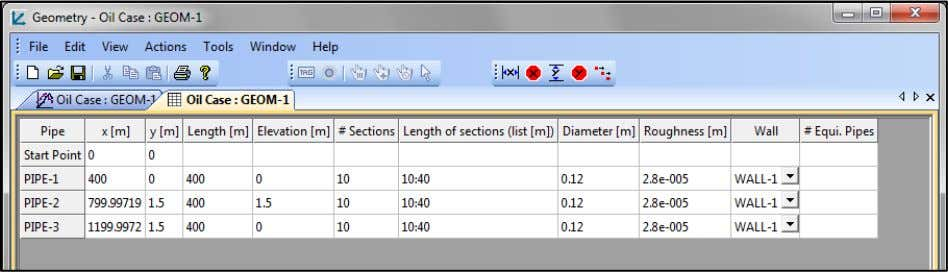 tab in the Geometry Editor window (Oil Case: GEOM-1 tab). From the Geometry editor main menu,