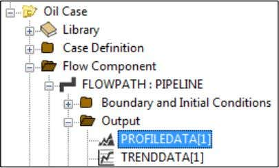 to: FLOWPATH:PIPELINE  Output  PROFILEDATA . In the Properties window, click the ellipses button for