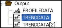 Select the TRENDDATA statement under the FLOWPATH . In the TRENDDATA Properties window, complete these steps: