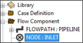 expanding Flow Component  NODE : INLET as shown below: In the same field in the