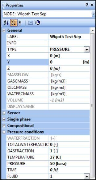 minimum allowable arrival temperature) FLUID = 1 The base OLGA case has a predefined pipeline profile.