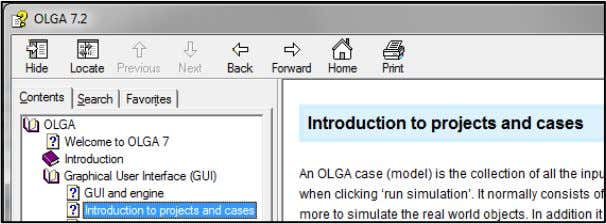 "Help Click on ""Contents""  ""Graphical User Interface (GUI)""  ""Introduction to projects and cases"". 6"