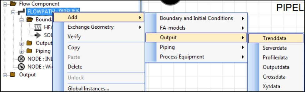 modify the TRENDDATA entry to achieve the following: In the Model View window, directly under the
