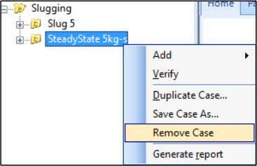 remove the steady state case from the OLGA project. Note that the OLGA case will not