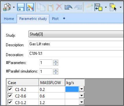 under FLOWPATH : PIPELINE in the Select Parameter window. Plot QLT out of the topside pipe