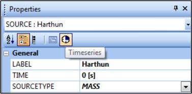 window, click on the Timeseties icon shown below ( ) 11 e.g. parameters of Sources and