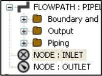 is as follows: Click on the INLET node in the Model View In Properties Window, scroll
