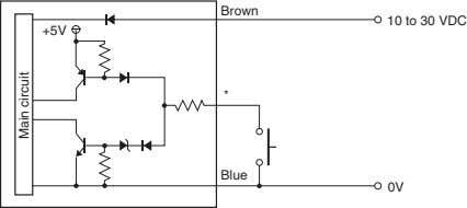 Brown to 30 VDC 10 +5V * Blue 0V Main circuit