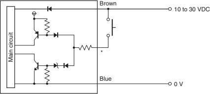 Brown 10 to 30 VDC * Blue 0 V Main circuit