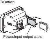 To attach Power/Input-output cable