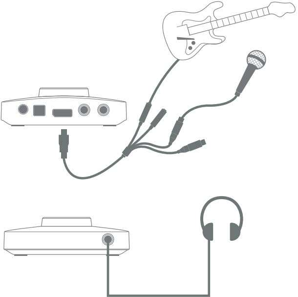 configuration is shown below. Forte as a recording interface This setup illustrates the most typical configuration
