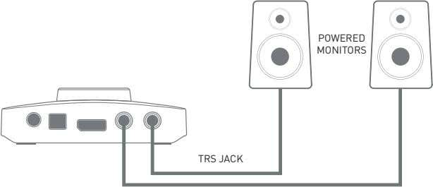 POWERED MONITORS TRS JACK