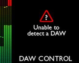 If no DAW is detected, an error message will be displayed: For a full list of