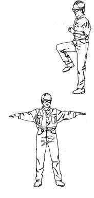 ground. Continue 3 to 5 minutes. 2. Arm Circles Start: Stand in position. Stand with arms