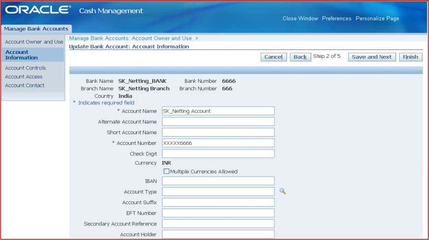 by checking the check box multiple currencies allowed. Give the netting control account defined earlier as
