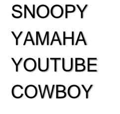 SNOOPY YAMAHA YOUTUBE COWBOY