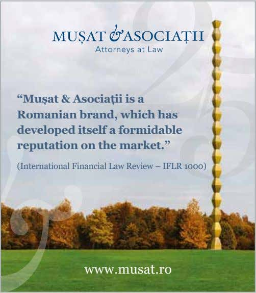 """Mușat & Asociații is a Romanian brand, which has developed itself a formidable reputation on"
