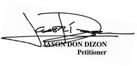 JASON DON DIZON Petitioner