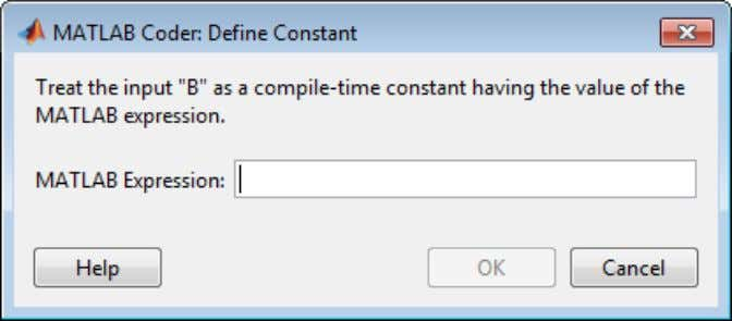 Defining Constant Input Parameters in a Project Defining Constant Input Parameters in a Project 1 On