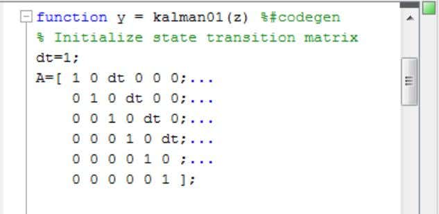 4 Preparing MATLAB Code for C/C++ Code Generation Fixing Errors Detected by the Code Analyzer You